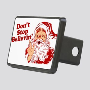 215 Santa Claus believin Rectangular Hitch Cov