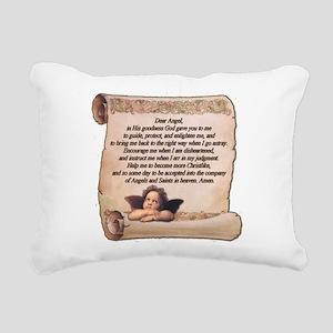 Guardian Angel Prayer Rectangular Canvas Pillow