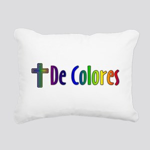 De Colores Rectangular Canvas Pillow
