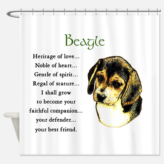 Beagle Puppy Shower Curtain