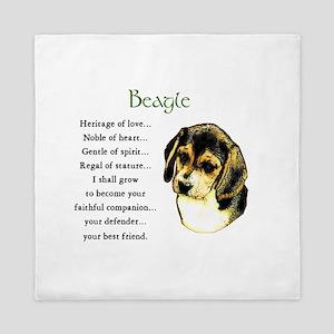 Beagle Puppy Queen Duvet