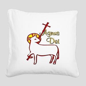 Agnus_Dei Square Canvas Pillow