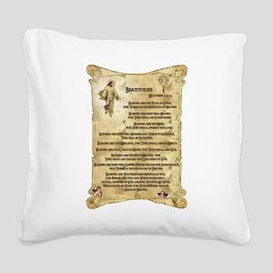 beatitudes16x20_print Square Canvas Pillow