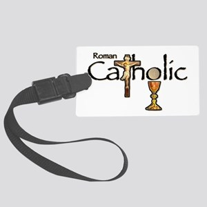 Proud to be Catholic Large Luggage Tag