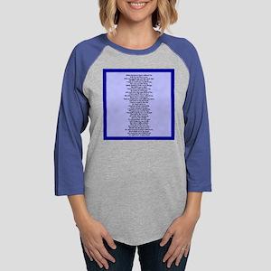 poem1pillow Womens Baseball Tee