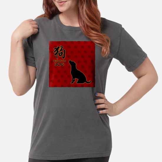 dog_10x10_red.png Womens Comfort Colors Shirt