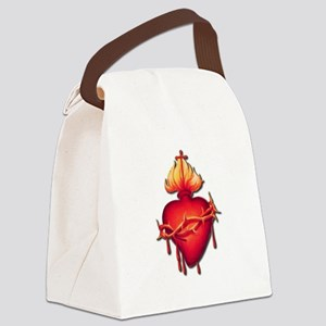 Sacred Heart (only) Canvas Lunch Bag