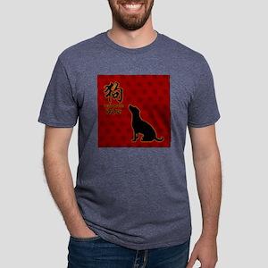 dog_10x10_red Mens Tri-blend T-Shirt