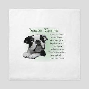 Boston Terrier Queen Duvet
