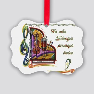HeWhoSIngs_bumpersticker Picture Ornament