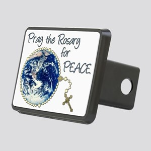 Pray the Rosary for Peace Rectangular Hitch Cover