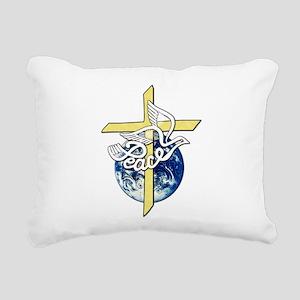 World_Peace Rectangular Canvas Pillow
