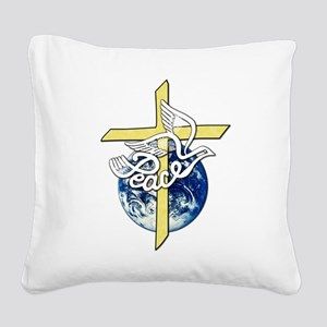 World_Peace Square Canvas Pillow