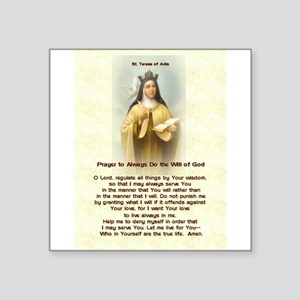 "St. Teresa of Avila Square Sticker 3"" x 3"""