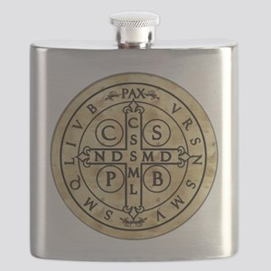 StBenMedal_fordark Flask