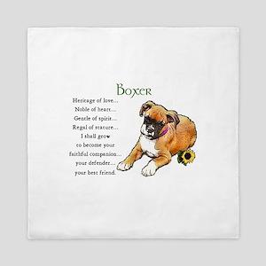 Boxer Puppy Queen Duvet