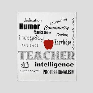 Teacher Pride Throw Blanket