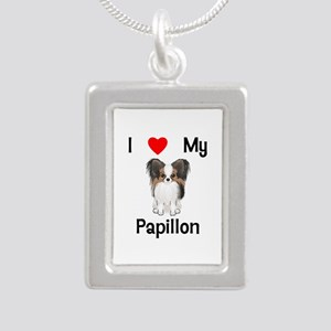 I love my Papillon (picture) Silver Portrait Neckl