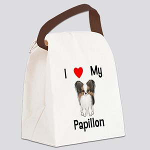 I love my Papillon (picture) Canvas Lunch Bag