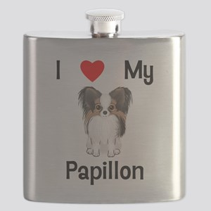 I love my Papillon (picture) Flask