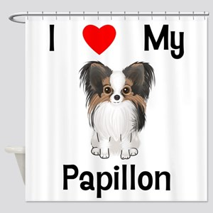 I love my Papillon (picture) Shower Curtain