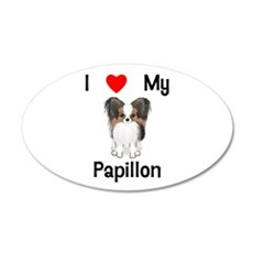 I love my Papillon (picture) Wall Decal
