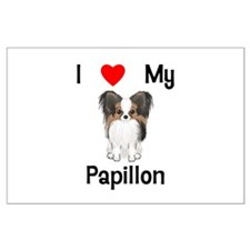 I love my Papillon (picture) Large Poster