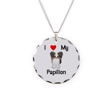 I love my Papillon (picture) Necklace Circle Charm