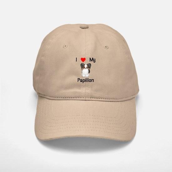 I love my Papillon (picture) Baseball Baseball Cap