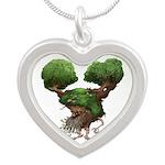 DryadCafePress Silver Heart Necklace