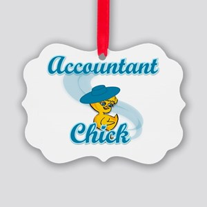 Accountant Chick #3 Picture Ornament