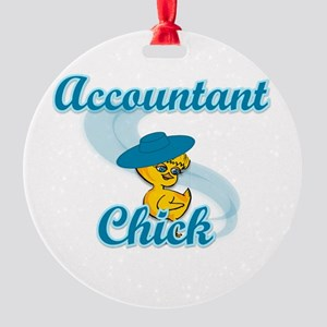 Accountant Chick #3 Round Ornament