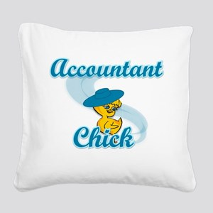 Accountant Chick #3 Square Canvas Pillow