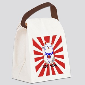 cute personalized lucky Japanese cat Canvas Lunch