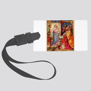 The Visit by the Three Wise Men Large Luggage Tag