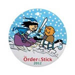 2012 Order Of The Stick Holiday Round Ornament