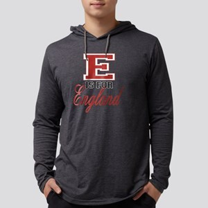 E is for England black Mens Hooded Shirt