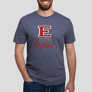 E is for England black Mens Tri-blend T-Shirt