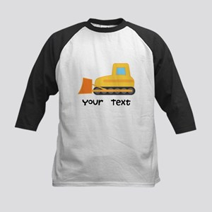 Personalized Bulldozer Kids Baseball Jersey