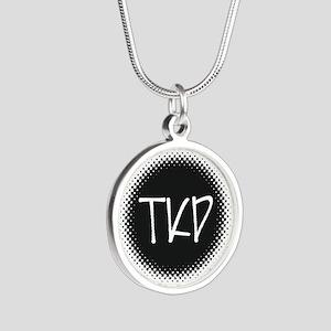 Martial Arts TKD Silver Round Necklace
