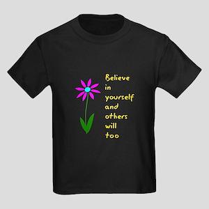 Believe in Yourself V3 Kids Dark T-Shirt