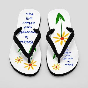 Believe in Yourself V3 Flip Flops
