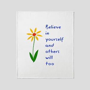 Believe in Yourself V3 Throw Blanket