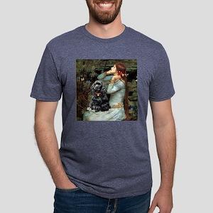 TILE-OPH2-Cocker-Blk-RedC.p Mens Tri-blend T-Shirt