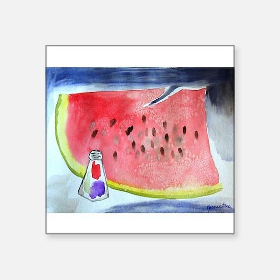 """Watermelon Square Sticker 3"""" x 3"""""""