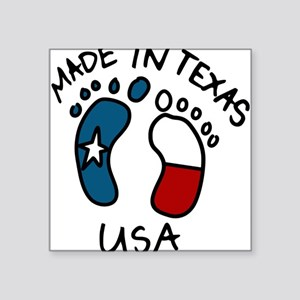 "Made In Texas Square Sticker 3"" x 3"""