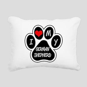 I Love My German Shepherd Rectangular Canvas Pillo