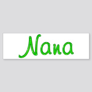 Nana Glitter Gel Bumper Sticker