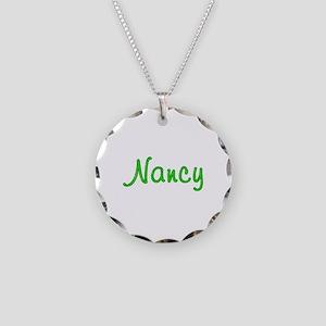 Nancy Glitter Gel Necklace Circle Charm