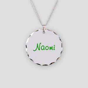 Naomi Glitter Gel Necklace Circle Charm